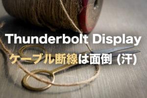 Thunderbolt Display ケーブル断線