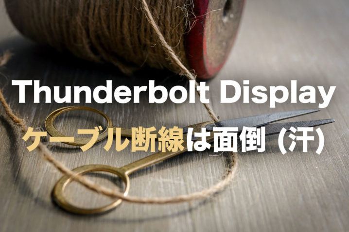 Thunderbolt Display ケーブル断線